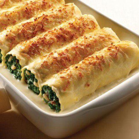 4- Canelones de espinacas
