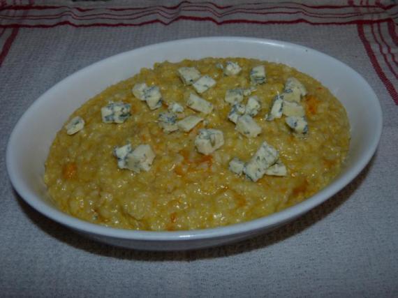 5- Risotto de calabaza y queso azul