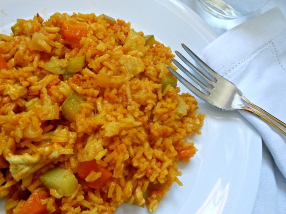 4- Arroz con verduras y curry