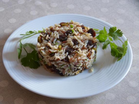 5- Arroz con frutos secos al cilantro