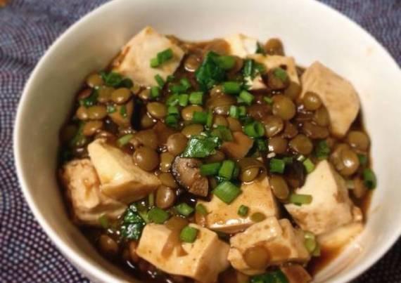 3- Lentejas con tofu frito