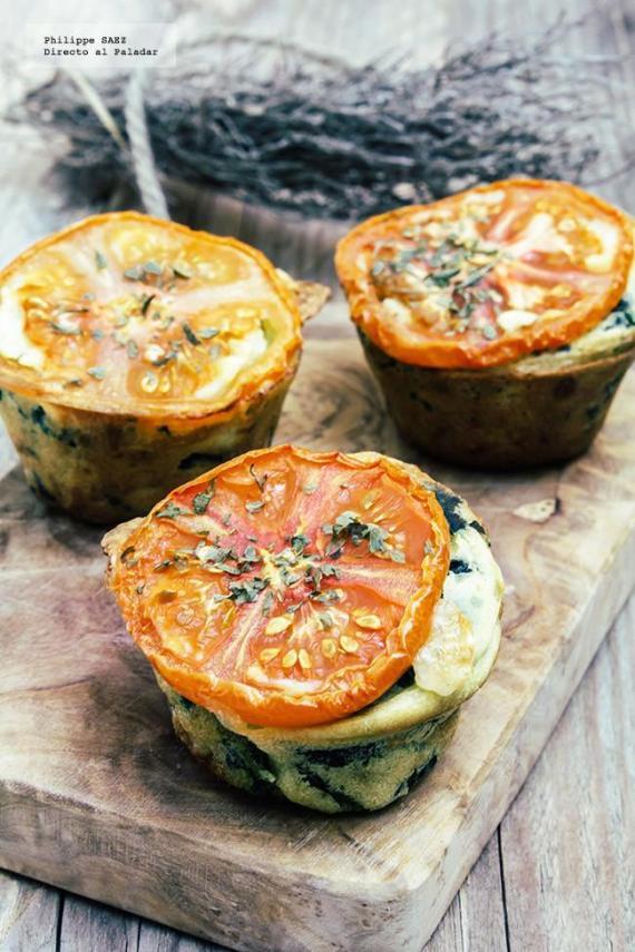 5- Muffins de espinacas y mozzarella (directoalpaladar)