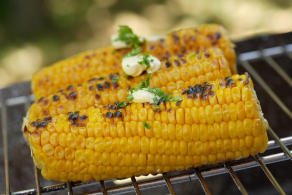 food;barbecues;cooking;dishes;step-by-step cooking;corncobs;barbecue;grills;open air;outside;summer;summer season;summer;picnic;gardens;special events;vegetables;detail