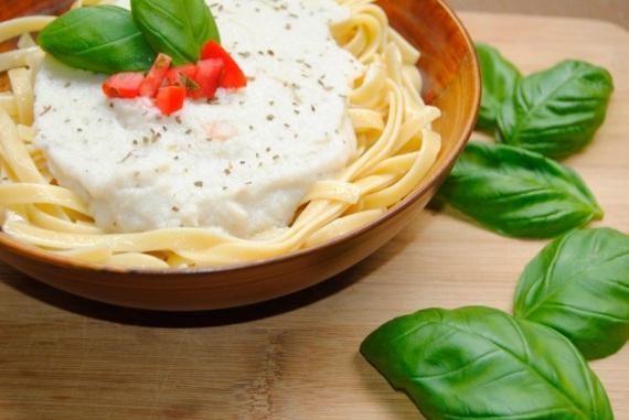 4- Pasta con salsa de coliflor Alfredo-1