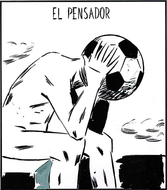 el pensador (fútbol)_viñeta el roto